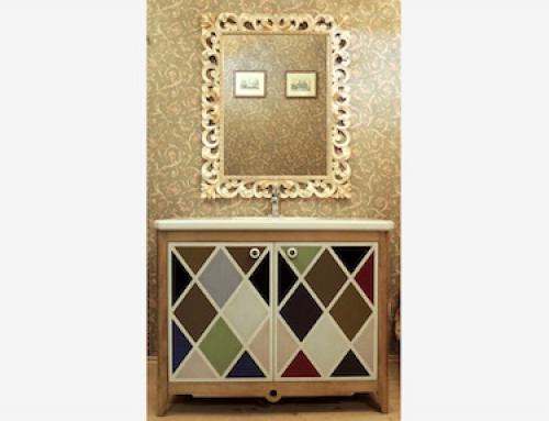 Новая серия мебели для ванных комнат «Арлекино»